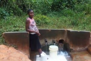 The Water Project: Shitaho Community, Mwikholo Spring -  Vivian Wanjofu