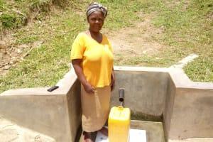 The Water Project: Handidi Community, Malezi Spring -  Grace Malesi
