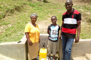 The Water Project: Handidi Community, Malezi Spring -  Safe Water