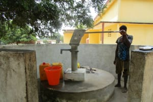 The Water Project: Tintafor, Officer's Quarters Community -  Reliable Water