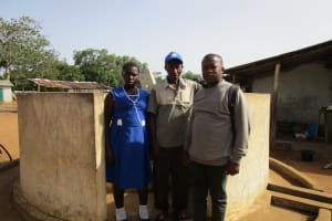 The Water Project: Petifu Junction Community -  Standing At Well