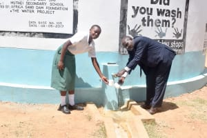 The Water Project: Muthei Secondary School -  A Year With Water