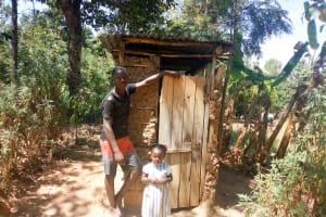 The Water Project: Ivinzo Commuity, Mushianda Spring -  A Household That Has A Latrine