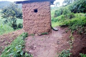 The Water Project: Bukhanga Community, Indangasi Spring -  Mud Latrine