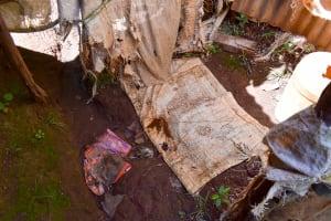 The Water Project: Mungakha Community, Nyanje Spring -  Inside The Bathing Shelter