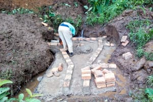 The Water Project: Irumbi Community, Okang'a Spring -  Setting The Foundation