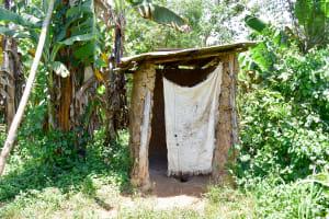 The Water Project: Mungakha Community, Asena Spring -  Latrine