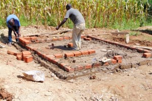 The Water Project: Shina Primary School -  Latrine Construction