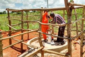 The Water Project: Pakanyi Gwoki Community -  Casing Installation