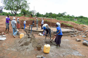The Water Project: Nzalae Primary School -  Tank Construction