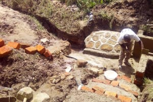 The Water Project: Luvambo Community, Tindi Spring -  Spring Construction