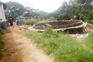 The Water Project: Kithumba Primary School -  Tank Construction