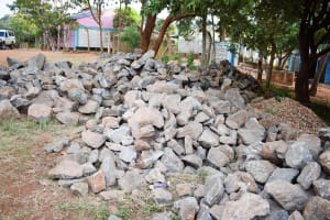 The Water Project: Katalwa Primary School -  Stones Carried To The School By Parents