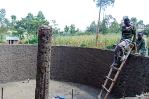 The Water Project: Emukangu Primary School, Shibuli -  Tank Construction