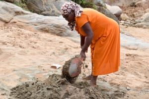 The Water Project: Katalwa Community A -  Mixing Cement