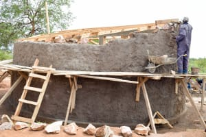 The Water Project: Katuluni Primary School -  Tank Construction
