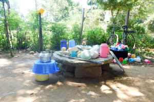 The Water Project: Mukunyuku RC Primary School -  Dishes Drying