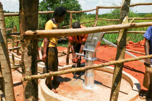 The Water Project: Pakanyi Gwoki Community -  Using The Water Point