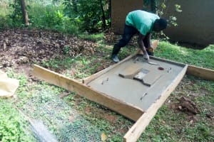 The Water Project:  Sanitation Platform Drying In The Frame