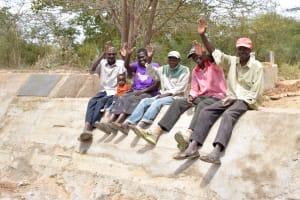 The Water Project: Kivani Community B -  Finished Sand Dam Construction