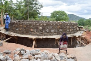 The Water Project: Katalwa Primary School -  Tank Construction