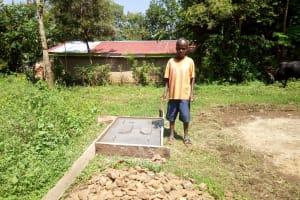The Water Project: Irumbi Community, Okang'a Spring -  Sanitation Platform