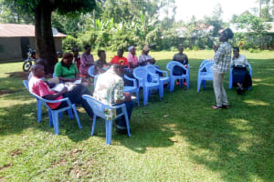 The Water Project: Irumbi Community, Okang'a Spring -  Training