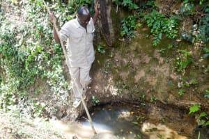 The Water Project: Shitirira Community, Peninah Spring -  Unprotected Spring