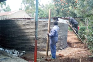 The Water Project: Shitsava Primary School -  Tank Construction