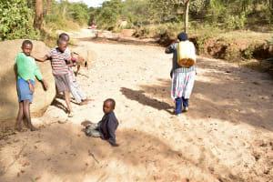 The Water Project: Munyuni Community -  Fetching Dirty Water