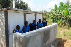 The Water Project: Emukangu Primary School, Shibuli -  Finished Latrines