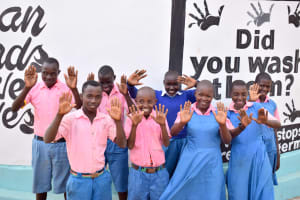 The Water Project: Katuluni Primary School -  Happy Students
