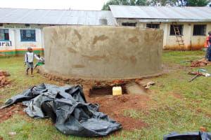 The Water Project: Shina Primary School -  Tank Construction