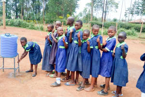 The Water Project: Shitsava Primary School -  Handwashing Station