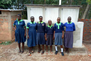 The Water Project: Shitsava Primary School -  Finished Latrines