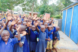 The Water Project: Shina Primary School -  Finished Latrines