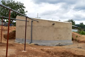 The Water Project: Nzalae Primary School -  Finished Tank And Gutters