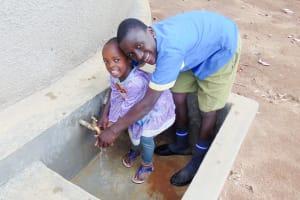 The Water Project: Emukangu Primary School, Shibuli -  Finished Tank