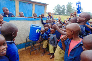 The Water Project: Shina Primary School -  Handwashing Station