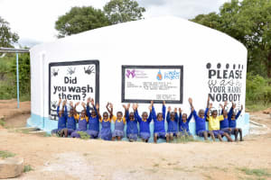 The Water Project: Wee Primary School -  Finished Tank