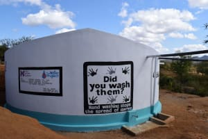 The Water Project: Nzalae Primary School -  Finished Tank