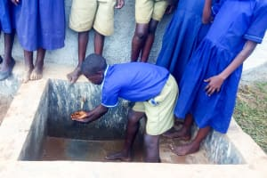 The Water Project: Shina Primary School -  Finished Rainwater Tank