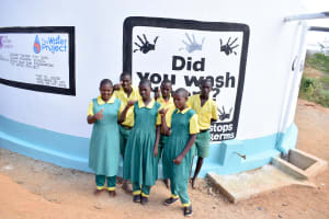 The Water Project: Nzalae Primary School -  Happy Students