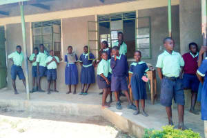 The Water Project: Mukunyuku RC Primary School -  Students Outside The Classrooms