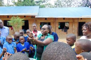 The Water Project: Emukangu Primary School, Shibuli -  Handwashing Training