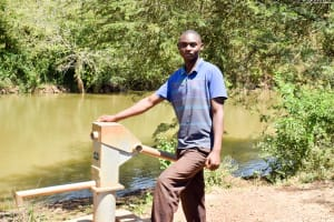 The Water Project: Kithuluni Community A -  Francis Kyalo