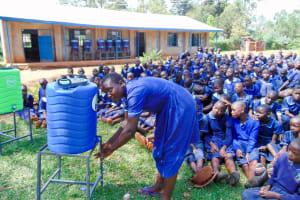 The Water Project: Shina Primary School -  Handwashing Training