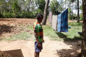 The Water Project: Shitirira Community, Peninah Spring -  A Boy Showing Us Around His Home