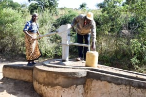 The Water Project: Mbau Community A -  Finished Well