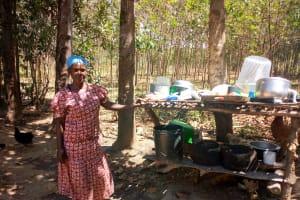 The Water Project: Ivinzo Commuity, Mushianda Spring -  A Well Built Dish Rack